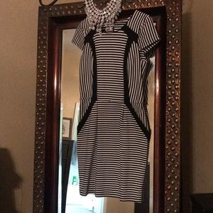 Fitted and super flattering striped dress